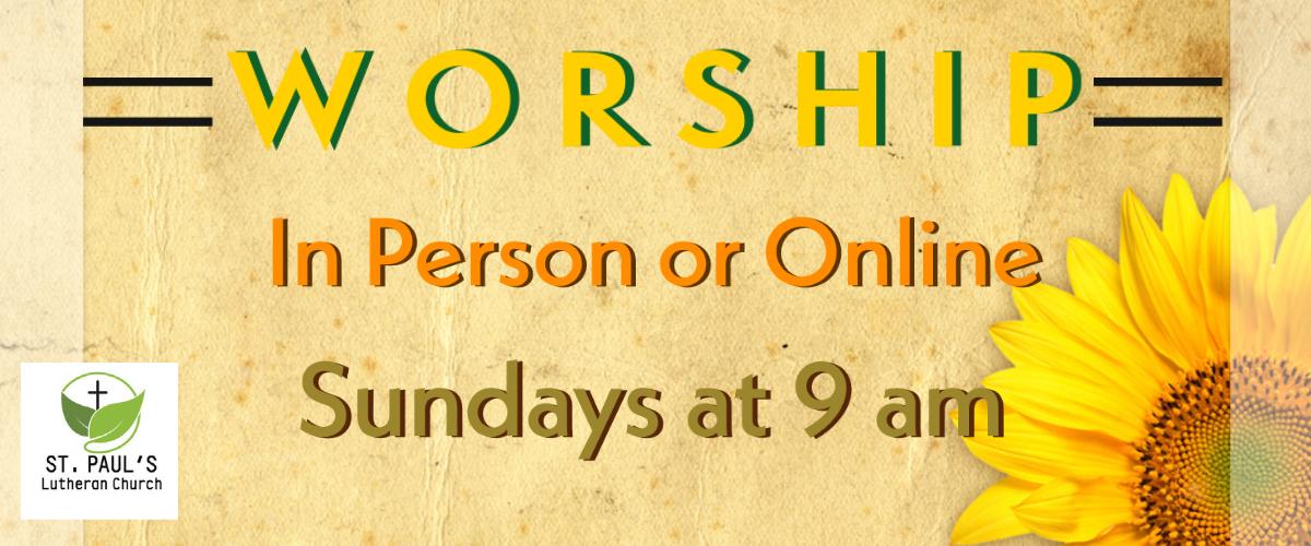 Worship @ 9 am